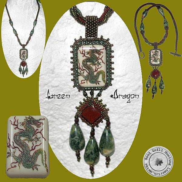 Green Dragon Necklace0