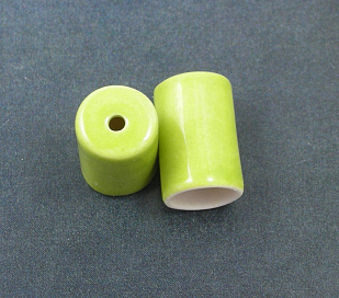 Cord End Caps 1 pair-- Lime
