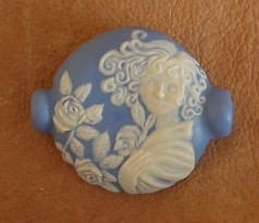 Wedgwood Focal Bead W/lady