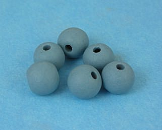Tumbled bisque beads - Peacock - 8  (8mm